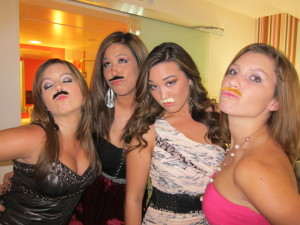 Ridiculous mustaches? Optional.