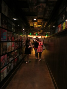 Find the vinyl records hallway to get to Secret Pizza.