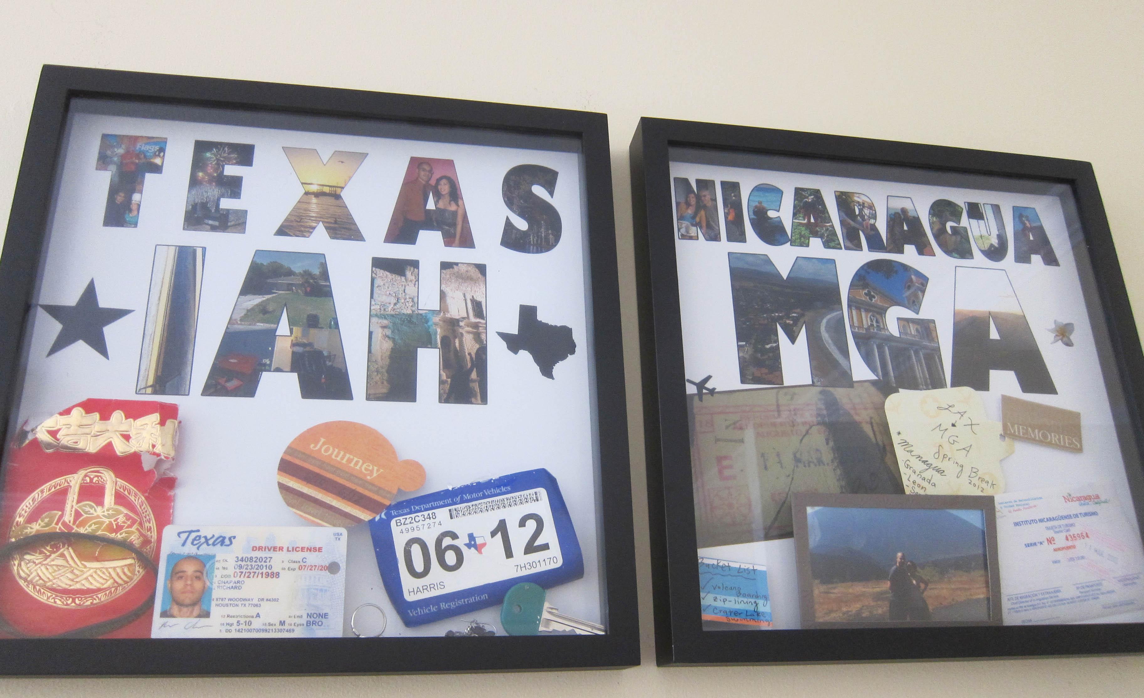 Display Your Memories: DIY Travel Shadow Boxes